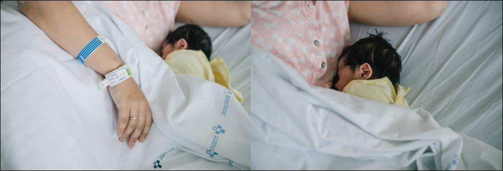 Sesión recién nacido en el hospital 48h