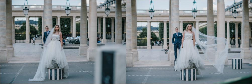 Postboda en París, Palais Royale