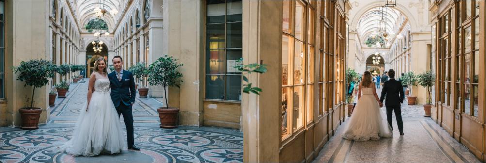 postboda en París, galeries vivienne
