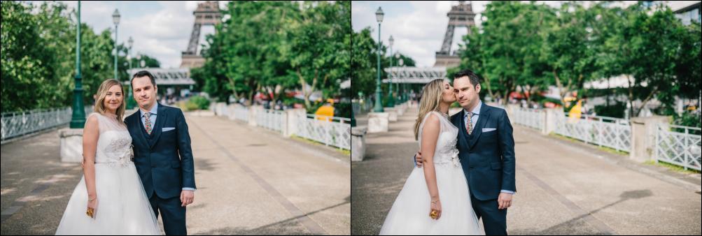Postboda romántica en Paris