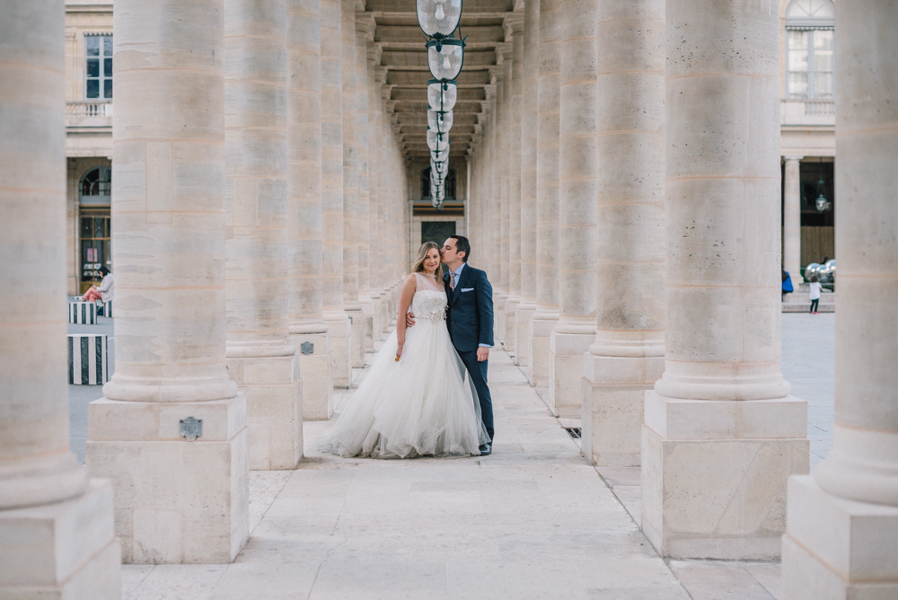 Postboda en paris, palais-royal